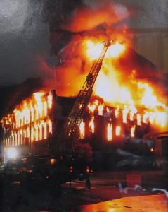 On scene at the Garver Bros. fire