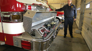 Jaws of Life are contained in the front bumper